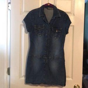 2/$15 Bisou Bisou denim dress